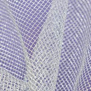 Soft Tulle – Metallic Silver