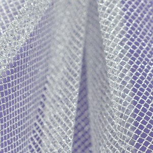 Stiff Net – Metallic Silver